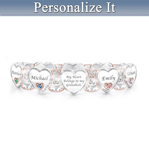 """Grandma's Heart and Joy Bracelet"" Perfect 70th Birthday Gift!"