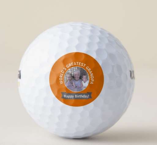 Personalized Golf Ball - 70th Birthday Gift Ideas for Grandpa