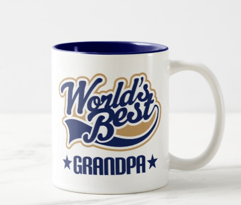 World's Best Grandpa Mug - 70th Birthday Gift Ideas for Grandpa