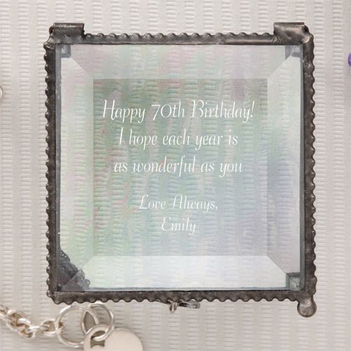 Personalized Jewelry Box - 70th Birthday Gift Ideas for Women