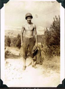 Chick Bruns in Sicily, 1943