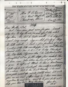 Letter Home 1943-12-14