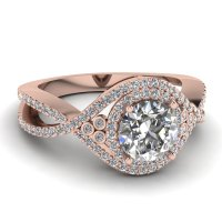 Rose Gold Engagement Rings: Rose Gold Engagement Rings