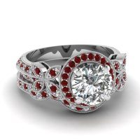 The most expensive wedding ring: White gold ruby wedding ...