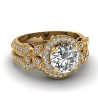 Wedding Rings Pictures: 18k yellow gold wedding ring settings
