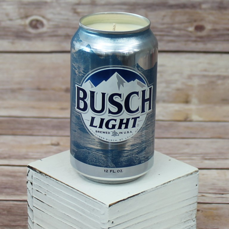 Busch Light Beer Can Soy Wax Candle   716 Candle Co