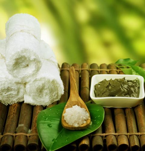Spa Treatment. Mud Mask and Sea Salt