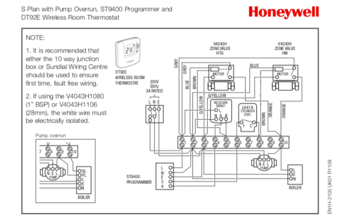 wiring diagram for honeywell motorised valve  cat c 12 ecm