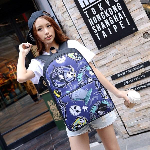 Steampunk Backpack Bag Ghost Skull Halloween School Bags