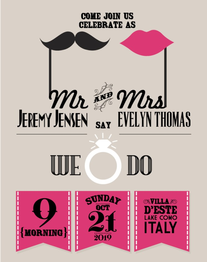 Elegant Wedding Invitation Designs Vector