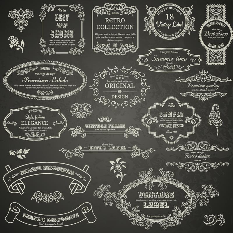 Wedding Day Retro Lace Label Vector Free Vector Graphic