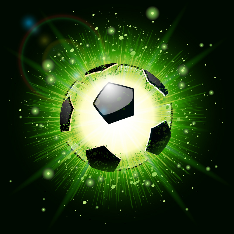 cool football poster vector