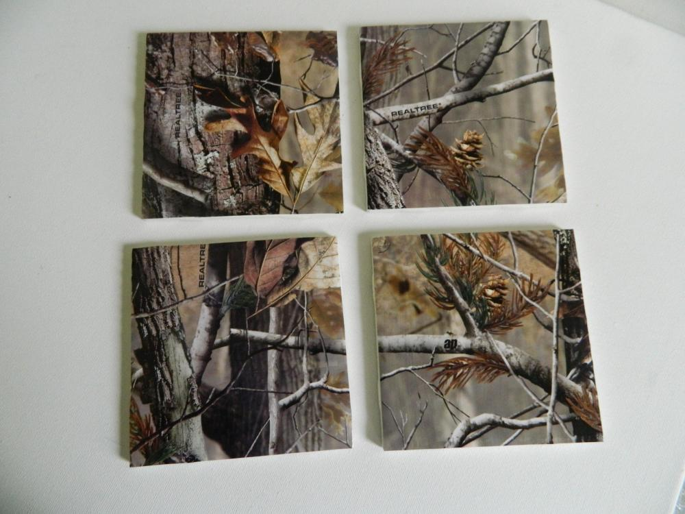 Realtree Camo Print Tile Coasters on Luulla
