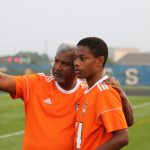 Viswanathan coaching Tech soccer.