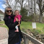 Christensen with her granddaughter