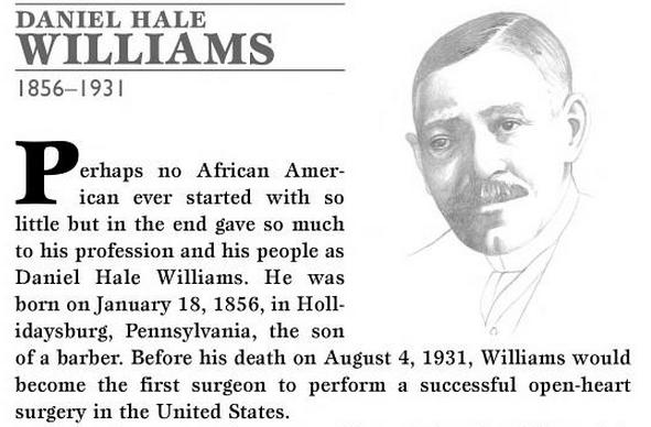 Doctor Daniel Hale Williams Quote