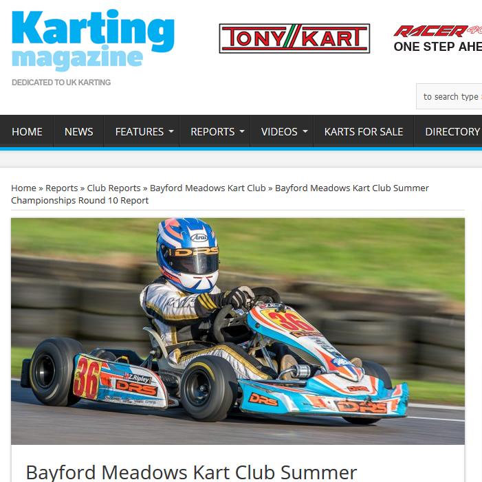 Bayford Meadows Kart Club Summer Championships Round 10 Report