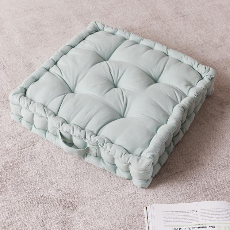 alder tufted floor cushion 50x50 cms