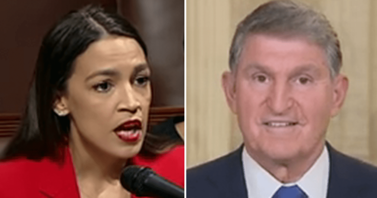 """AOC blasts Manchin, asks """"the 1st Native woman to be Cabinet Sec is where Manchin finds unease?"""""""