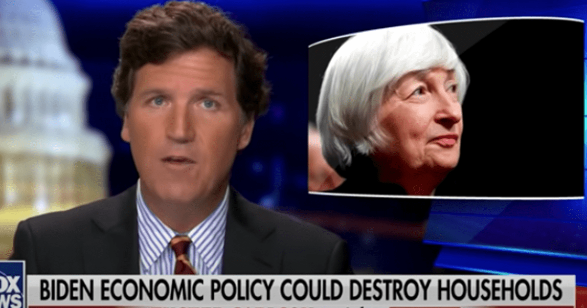 """WATCH: Tucker argues that Biden's economic policy could """"destroy"""" households"""