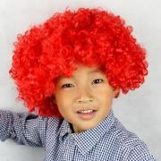 crazy red hair wig