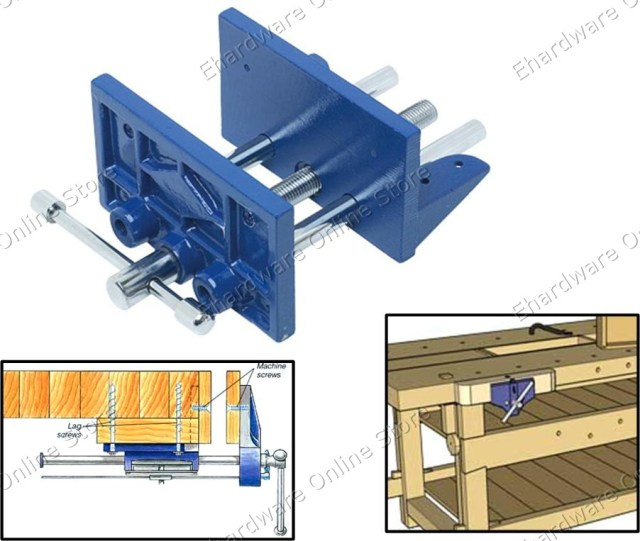 Heavy Duty Clamp-On Woodworking Bench Vise (40PB50) (Open Stock)