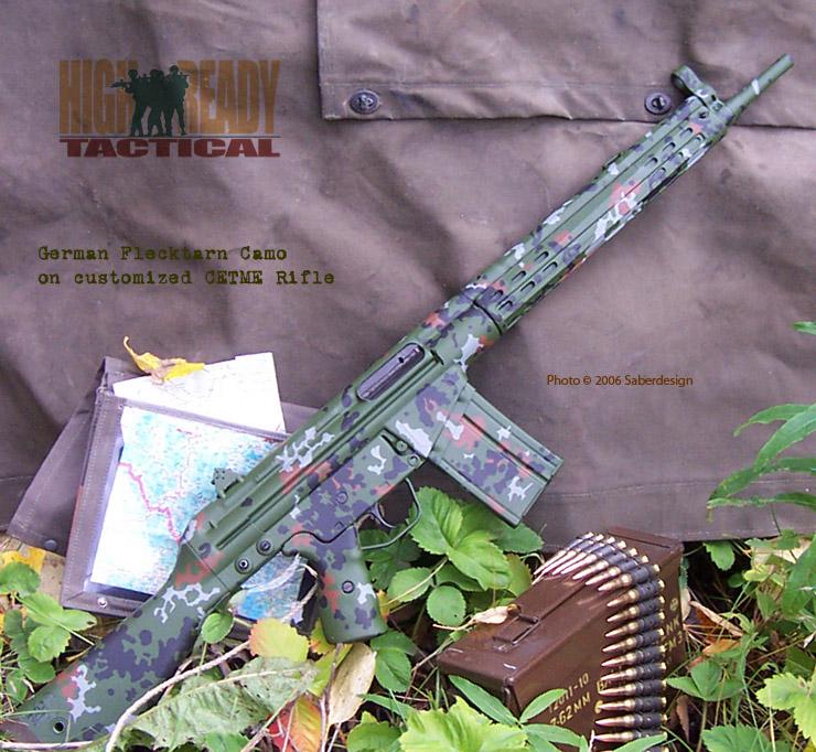 CETME Rifle in German Flecktarn Camouflage