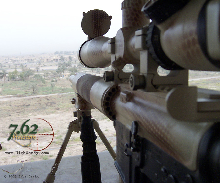 7.62 Precision Snakeskin pattern on rifle in use in Iraq