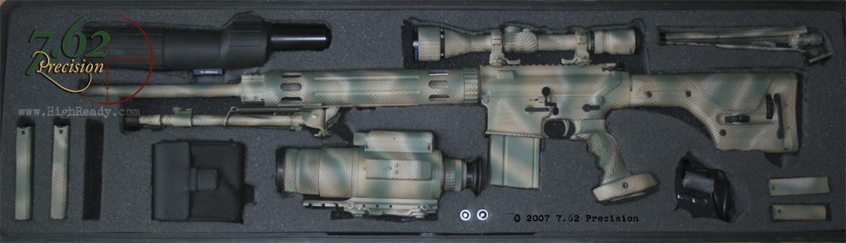 AR-10 Sniper Rifle in Case