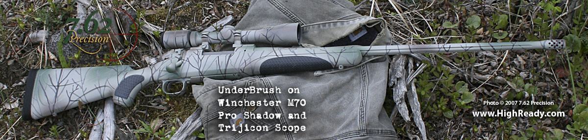 UnderBrush Pattern on Winchester M70 Pro Shadow and Trijicon Scope