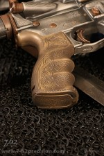 AG-43 Grip in tarnished bronze with viking embellishments.