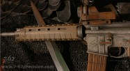 Magpul handguard gives nice lines to the rifle.