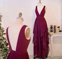 Burgundy Prom Dresses,Wine Red Evening Gowns,Modest Formal ...