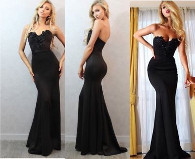 Black Mermaid Formal Dresses,Sexy Evening Dress, Mermaid
