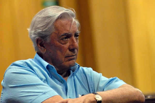 Mario Vargas Llosa (Photo courtesy of Pontificia Universidad Católica de Chile via Wiki Commons)