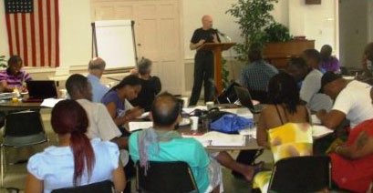 Training session for Spirit of 76 Worldwide activists in Washington, D.C.