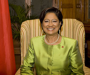 Kamla Persad-Bissessar, prime minister of Trinidad and Tobago
