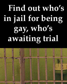 Click on the image for the blog's list of people in prison or awaiting trial for homosexuality.