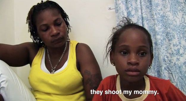 Simone Edwards, who was shot by anti-gay gunmen in Jamaica because she is a lesbian.