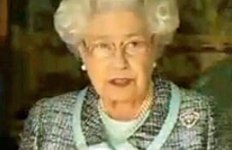 Queen Elizabeth at the signing of the new Commonwealth Charter.