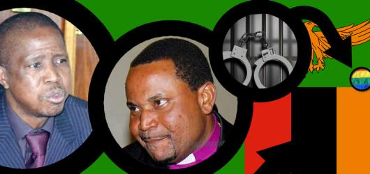 """Minister Lungu and Bishop Chomba peddling anti-gay hate speech in Zambia"" is the caption for this graphic from the Open Society Initiative for Southern Africa."