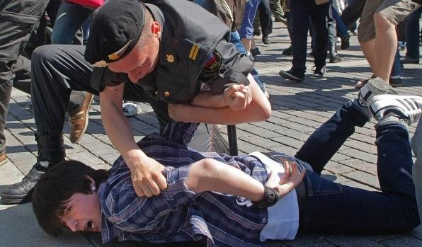 Russian pride protest. (Photo courtesy of Allout.org)