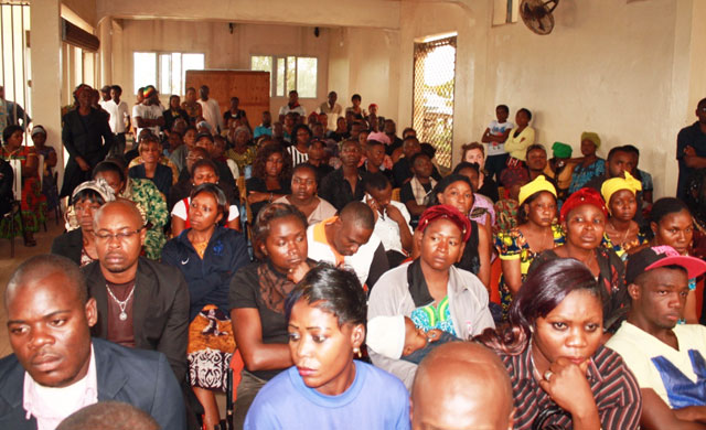The church was packed for Eric Lembembe's funeral on Aug. 3, 2013. (Photo courtesy of Camfaids)