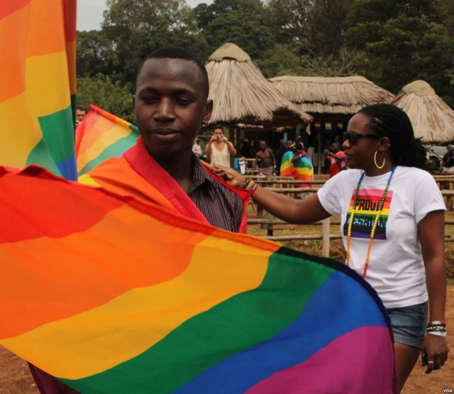 Scene from Uganda pride parade 2013. (Photo courtesy of VOA)