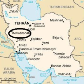 Kermanshah's location in Iran (Map courtesy of Chora Travel)