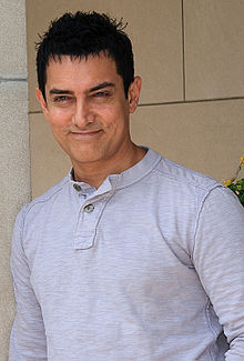 Indian film star Aamir Khan (Photo courtesy of WIkipedia)