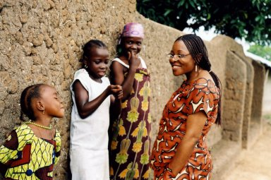 Dorothy Aken'Ova (right), executive director of  INCRESE. (Photo courtesy of GlobalGiving.org)