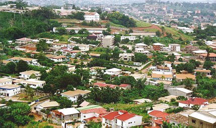 Aerial view of an uncrowded residential neighborhood in the Mimboman district of Yaoundé, Cameroon. (Photo courtesy of Africa Presse)