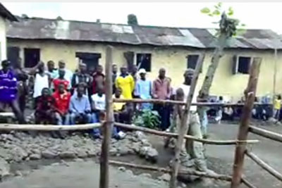 Courtyard scene at Buea Central Prison. (Photo courtesy of VoicesofAfricaMobile via YouTube)