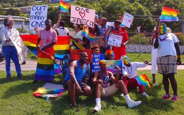Scene at Montego Bay Pride, Jamaica, Oct. 25, 2015. (Photo courtesy of Maurice Tomlinson)